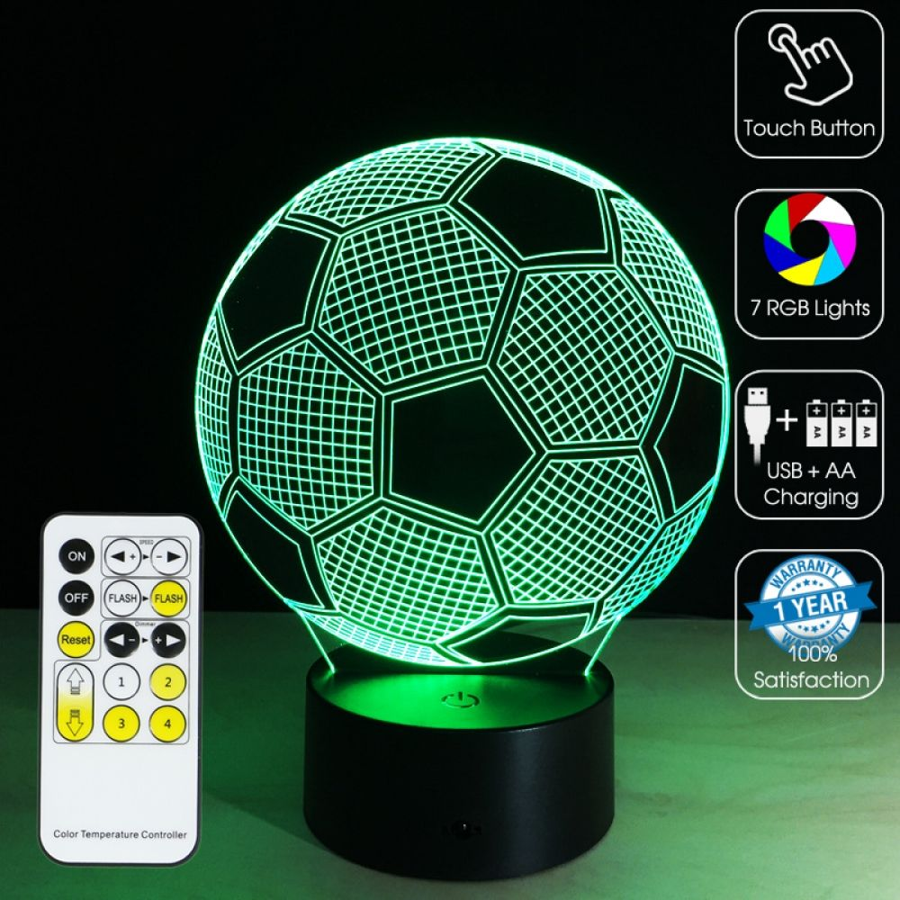 3d Led Optical Illusion Lamp Soccer Ball 3d Optical Illusions 3d Illusion Lamp Optical Illusions