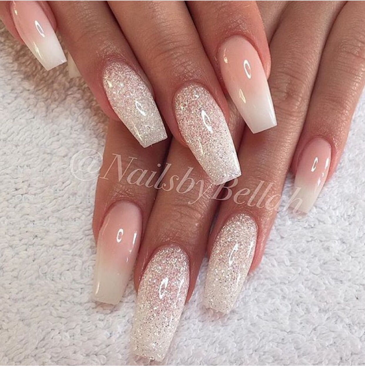 Sparkly Nail Designs U 241 As Para Novia U 241 As Ombr 233 U 241 As De Gel