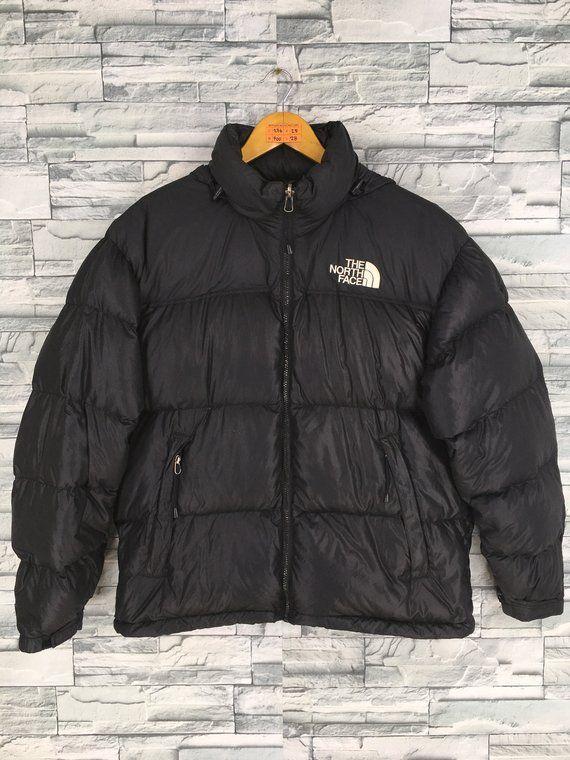 4e0e82446b Vintage The NORTH FACE Jacket Large Puffer Goose Down Jacket Men Women  Black North Face 700 Bomber H