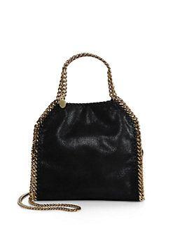 Stella McCartney - Falabella Mini Baby Bella Metallic Faux Suede Shoulder  Bag 79a80b3ca5587