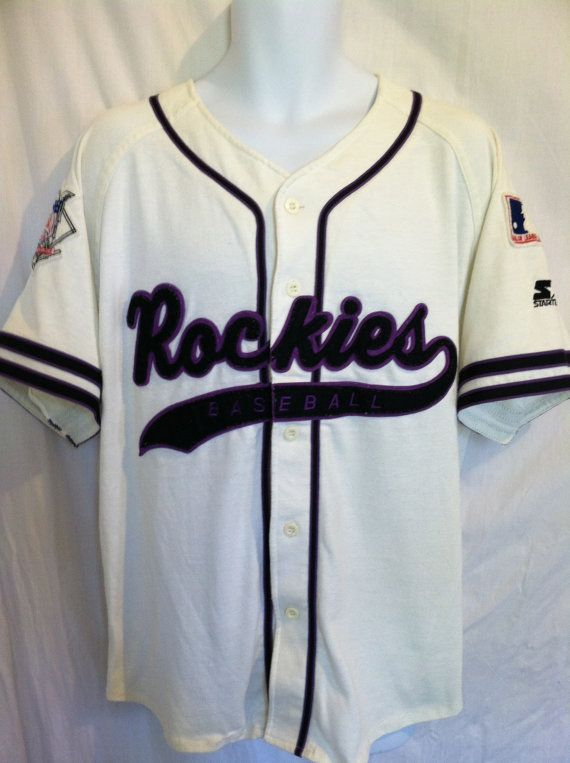 on sale 28ec2 eed4e Vintage 90s COLORADO ROCKIES Jersey/ Original STARTER Sewn ...