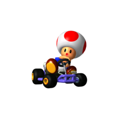 transparent mario kart 64 toad