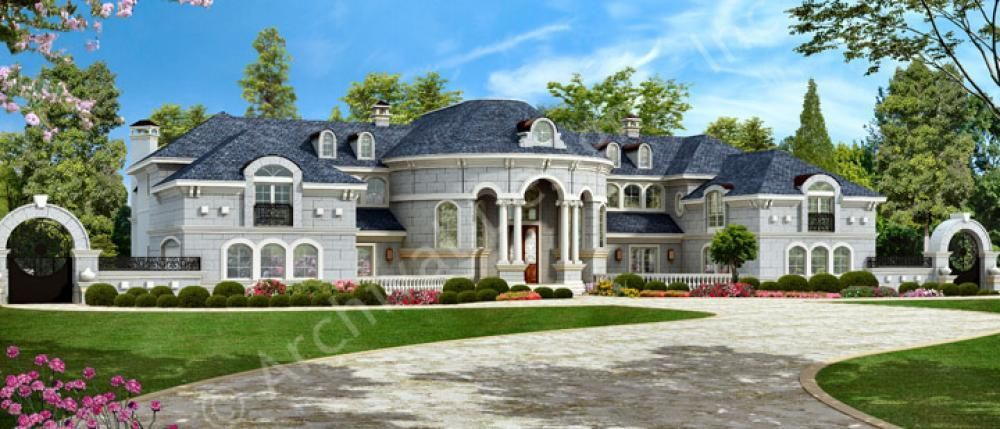 Mumbai Mansion House Plans Luxury House Plans Plan Front