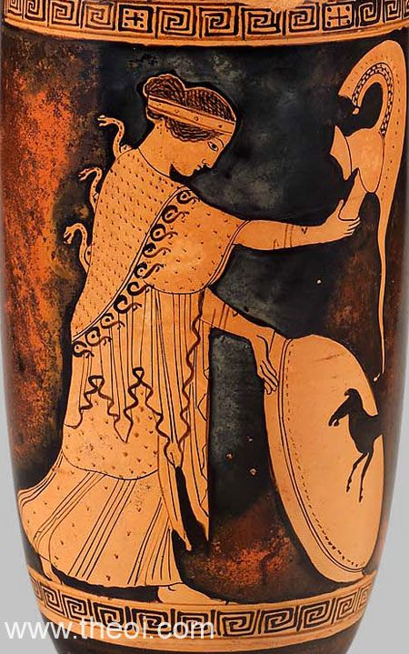 Athena Ancient Greek Vase Painting In The Mood For Greco Roman