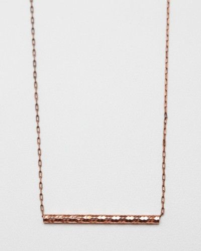 vanessa mooney etched bar necklace