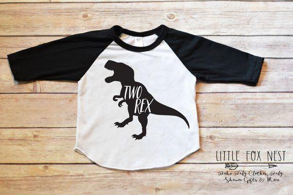 229a032a Second Birthday Boy, Two Rex, Dinosaur Birthday, Dinosaur Birthday Shirt Boy,  Dinosaur Shirt, Two Re