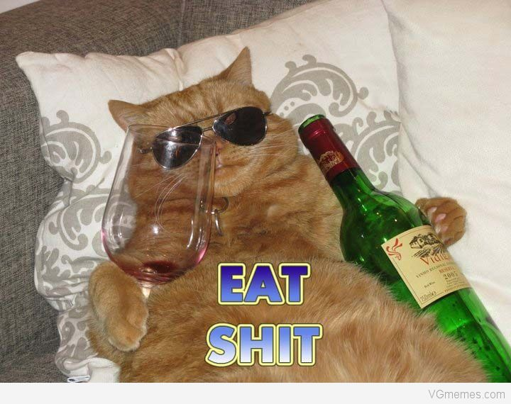 Eat shit wine meme