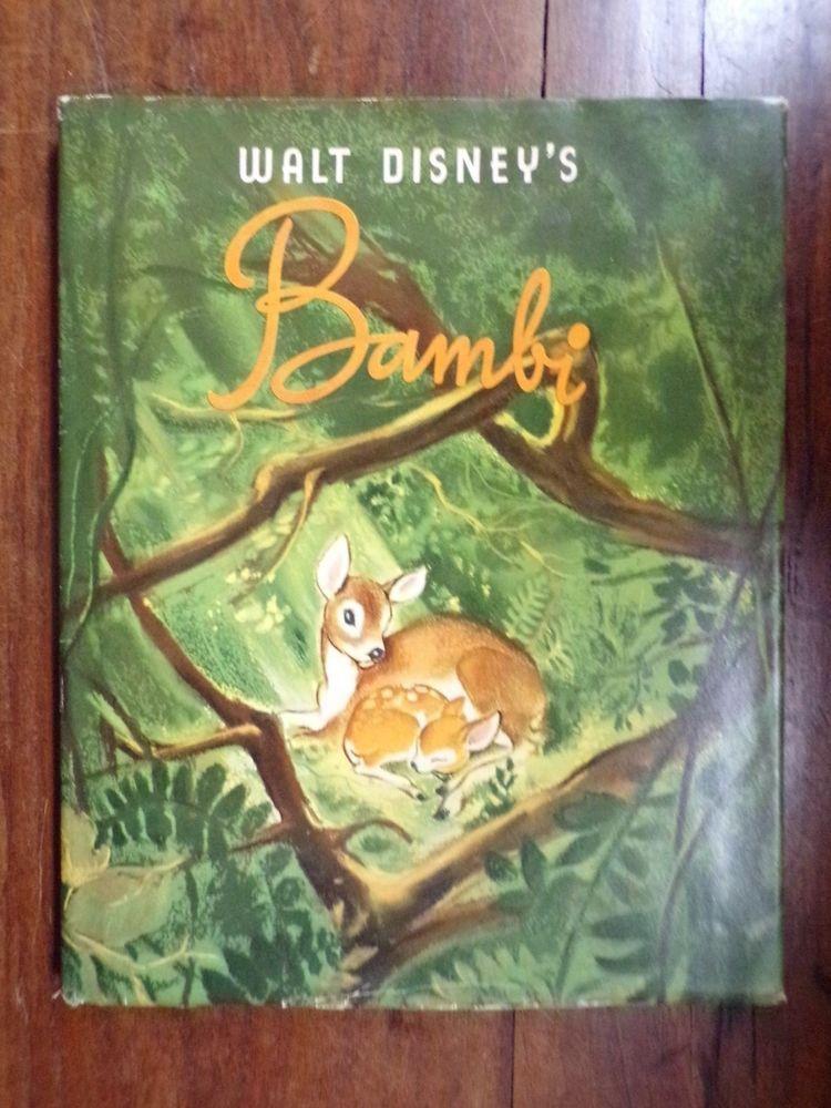 Walt Disney S Bambi 1st 1st Hc Dj 1941 Simon Schuster Vg