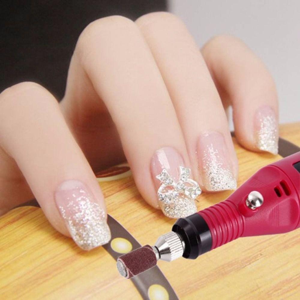 Nail File Drill Kit Electric Manicure Pedicure Acrylic Portable ...