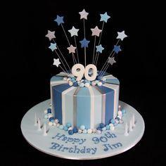 Male 90th Birthday Cake