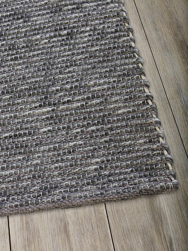 Xylo Natural Denim Grey 160 X 230 Flat Woven Rugs