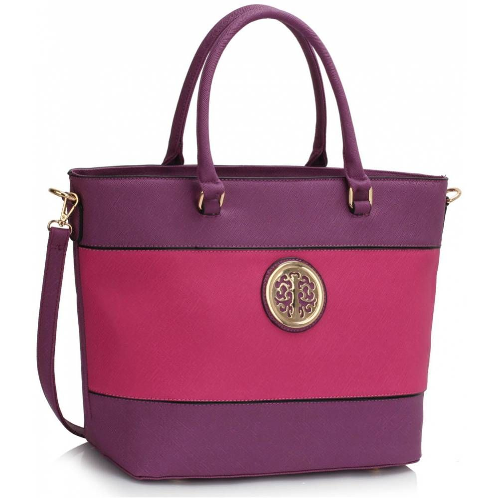 Shopper kabelka DK00406a-purple/fuchsia