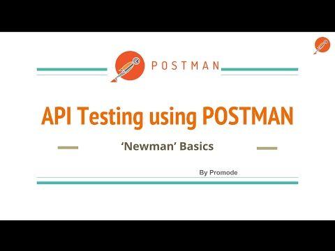 API testing using postman - Newman Basics - YouTube