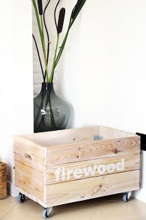 firewood box by anything fireplace in my home tolle. Black Bedroom Furniture Sets. Home Design Ideas