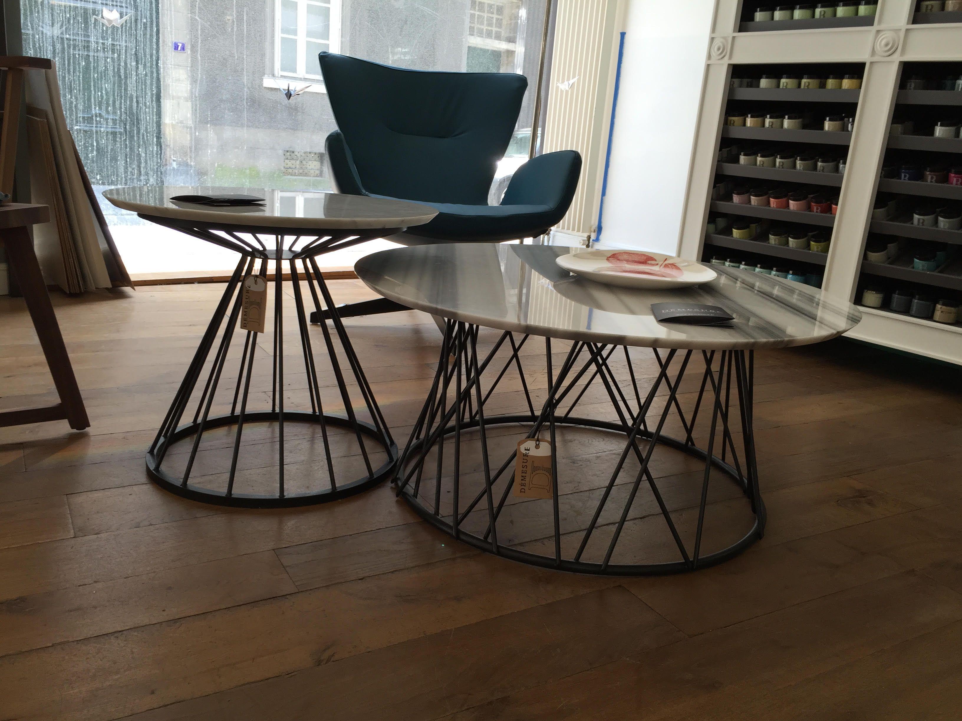 Tables Basses Marbre Made In Nantes Design Demesure Fr Mesas Hierro