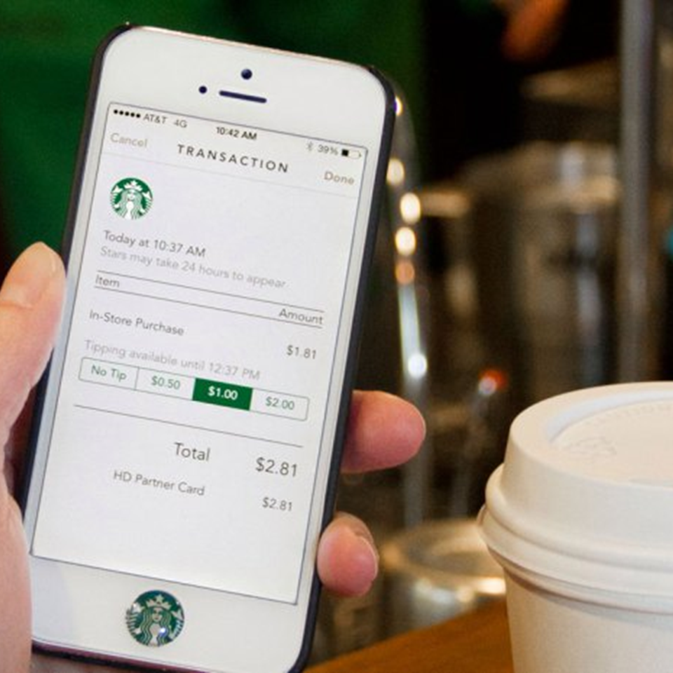 Order ahead with Starbucks app and pickup at selected