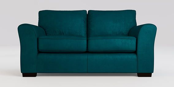 buy michigan small sofa 2 seats matt velvet dark teal slim block dark from the next uk. Black Bedroom Furniture Sets. Home Design Ideas