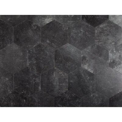 Style Selections 7 3 4 In X 9 In Groutable Obsidian Peel And Stick Vinyl Tile Lowes Com In 2020 Peel And Stick Vinyl Black Vinyl Flooring Vinyl Tile