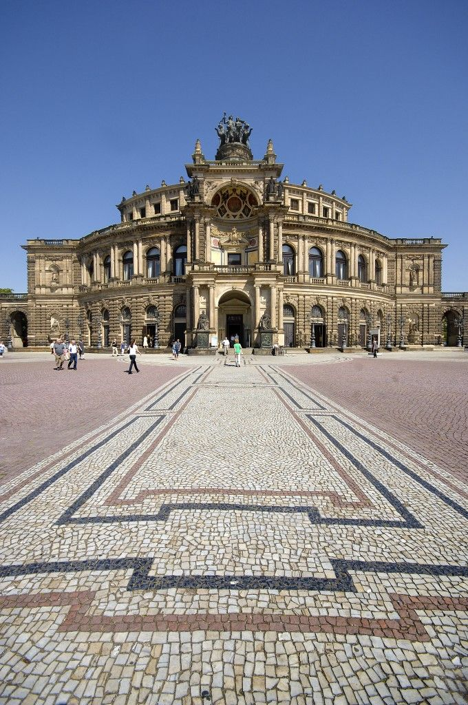 Semperoper In Dresden Aufnahmedatum 8 Juni 2014 Deutsche Landschaft Semper Oper Dresden