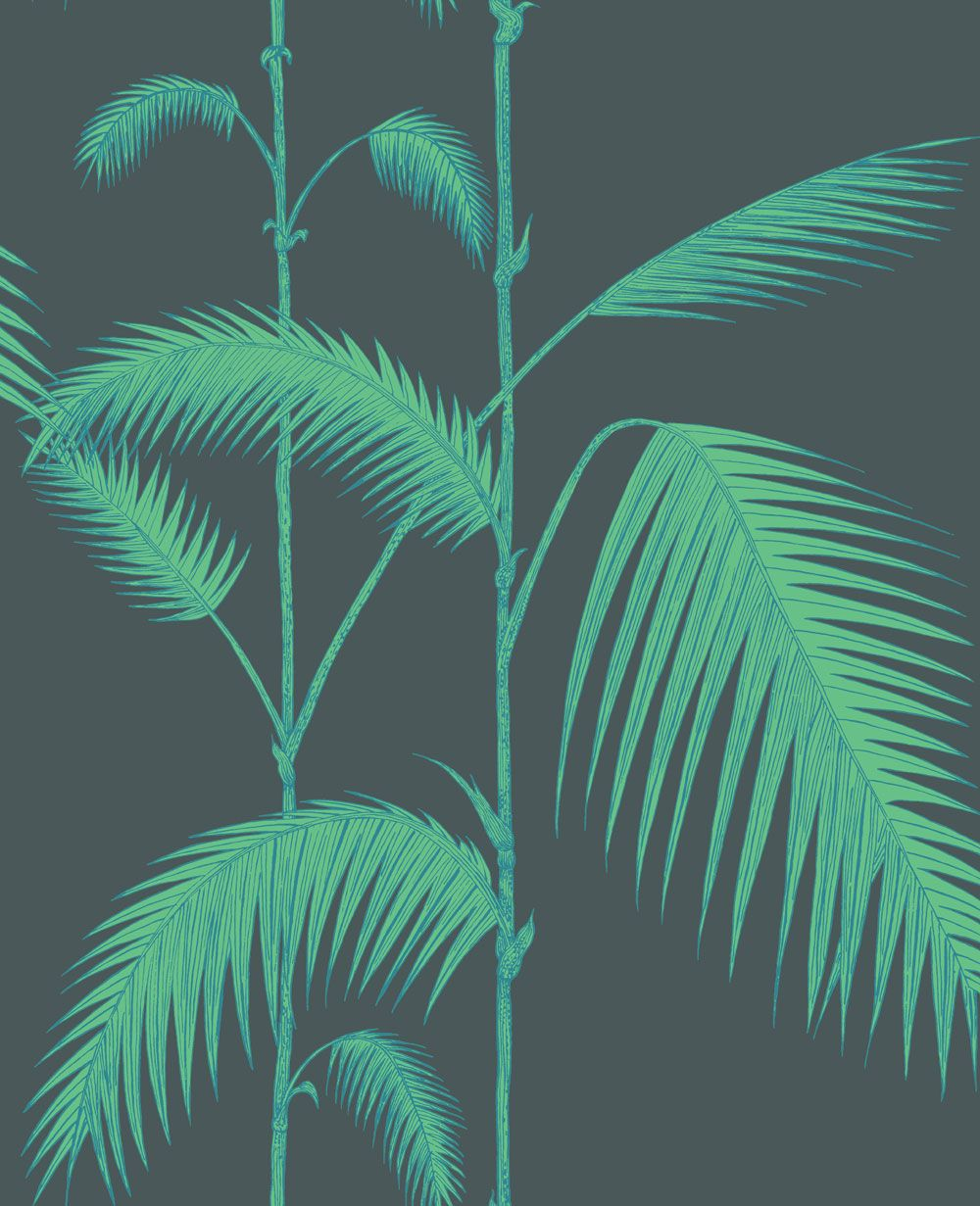 Cole & Son Palm Leaves Viridian Wallpaper main image