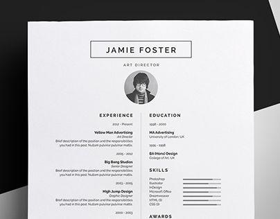 Resume CV - u0027Jamieu0027 Sophieu0027s Brand Pinterest Resume cv, Cv - cv and cover letter