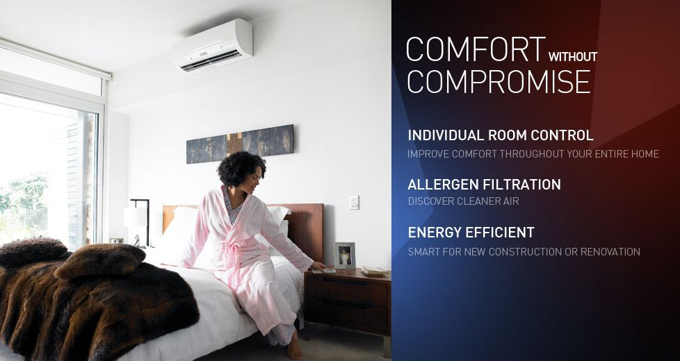 Mitsubishi Electric Cooling Heating Source Of The Split Type Ac Heating Cooling Unit Seen On Heating And Cooling Units Heating And Cooling Heating Hvac