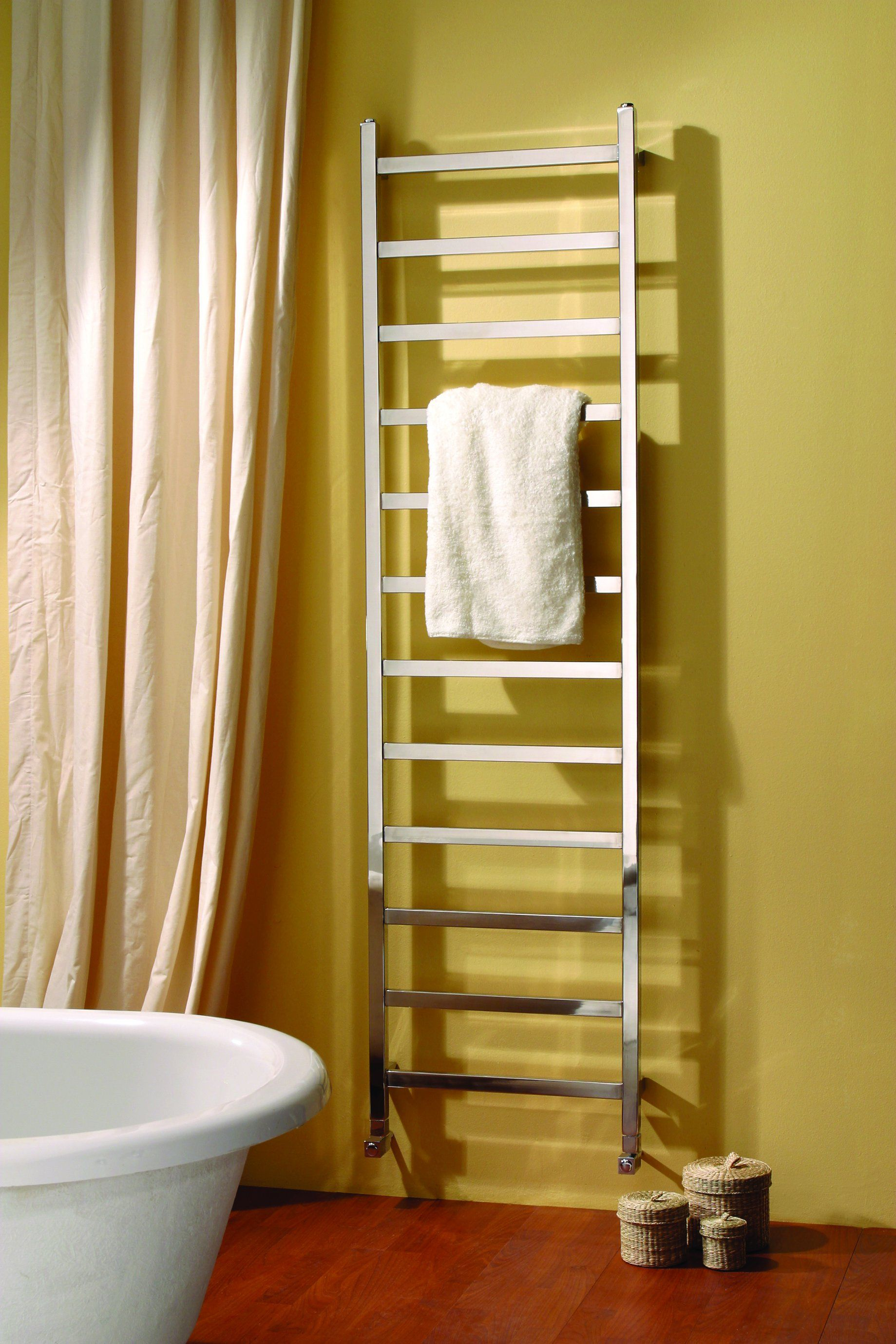 Mhs Climber Polished Stainless Steel Towel Railmhs Radiators Beauteous Designer Heated Towel Rails For Bathrooms Review