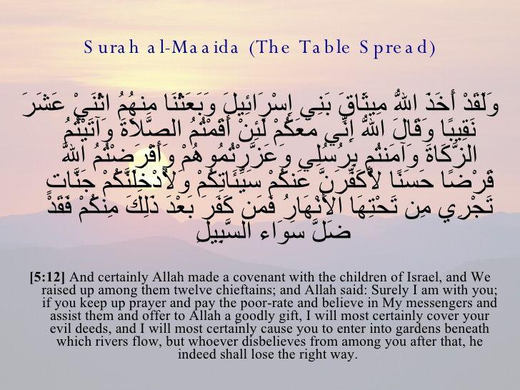 ١٢ المائدة Speak The Truth Sayings Prayers