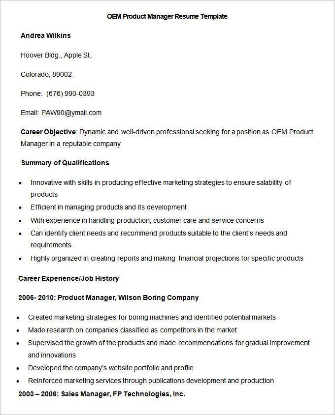 Manufacturing Resume Templates 13+ Free Printable Word  PDF