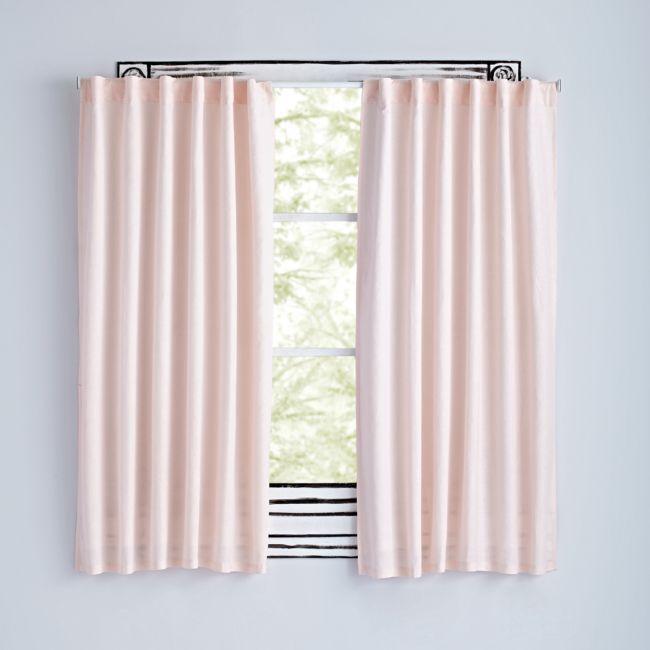 Fresh Linen Light Pink 84 Curtain Pink Curtains Linen Lights