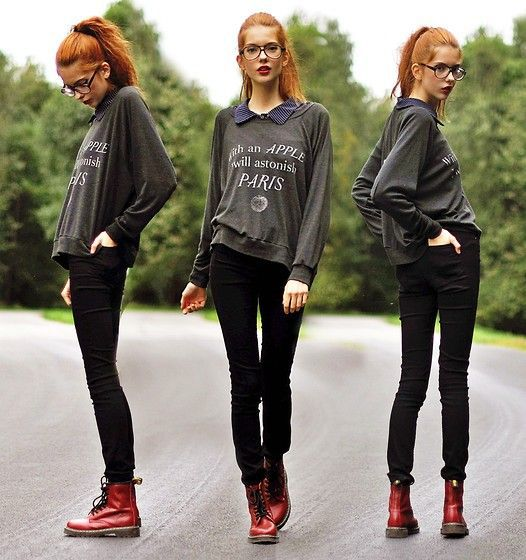 20 Style Tips On How To Wear Combat Boots | The outfit, Combat ...