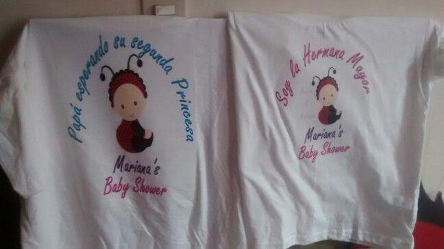 de83c2218 Camisetas para Baby Shower Papa y hermana Mayor
