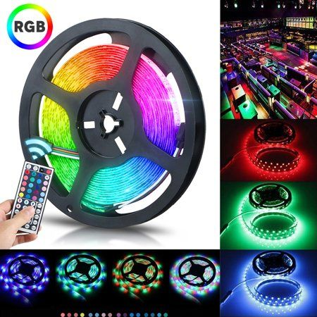 32 8ft 10m Led Strip Lights Tsv 600leds Waterproof Flexible Rgb Lights Self Adhesive Rgb Multicolor Changing 12v 2a 3528 Decoration Rope Light Kit For Room Kit In 2020 Led Lighting Bedroom Strip