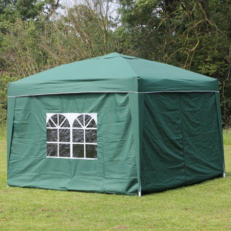 10 x 10 PALM SPRINGS EZ POP UP GREEN CANOPY GAZEBO TENT WITH 4 SIDE WALLS : 10 x 10 canopy with sides - memphite.com