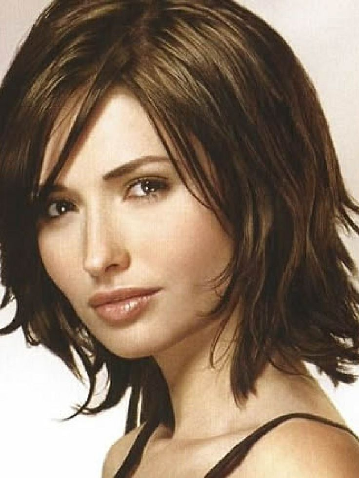 Short Hairstyles Medium Length Hair for round face