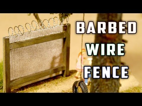 Barbed Wire Fence - Model Railroad - How-To - YouTube