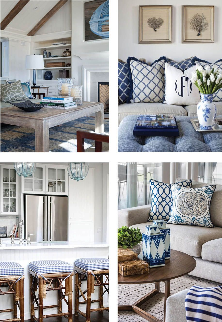 coastal style hamptons style chic in blue hamptons style pinterest wohnzimmer maritim. Black Bedroom Furniture Sets. Home Design Ideas