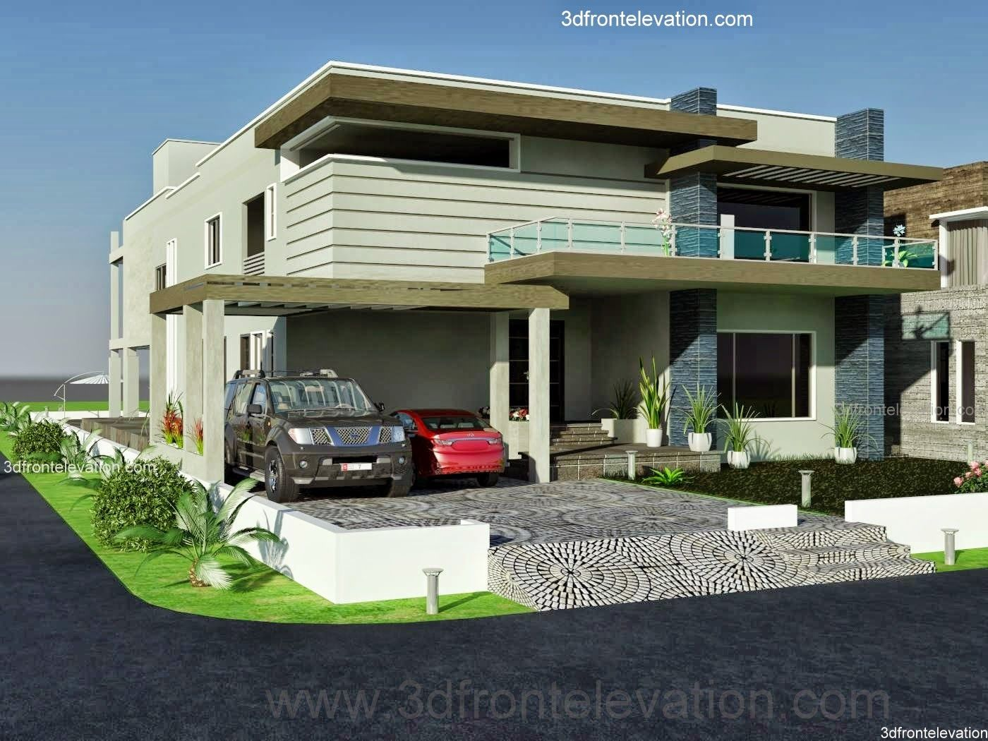 front elevation kanal dha karachi modern contemporary house design with swimming plool also best home elevations images homes decor rh pinterest