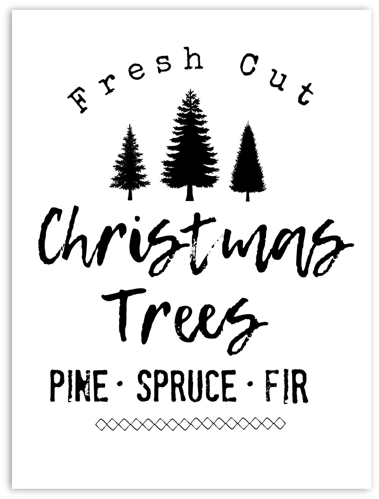 picture relating to Free Printable Holiday Closed Signs titled Do it yourself Farmhouse Design and style Xmas Tree Signal (Totally free Printable