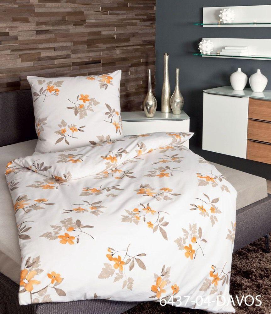 Davos ••  orange nougat 135x200,80x80 100 % Baumwolle http://www.muellerland.de/angebote-prospekte/sortiment/produkt/bettwaesche-135x20080x80-20/