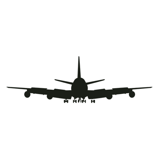 Airplane Silhouette Front View Ad Affiliate Ad Silhouette Front View Airplane In 2020 Airplane Silhouette Silhouette Background Design