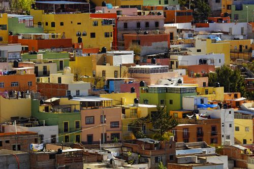 Colourful Mexican House Facades