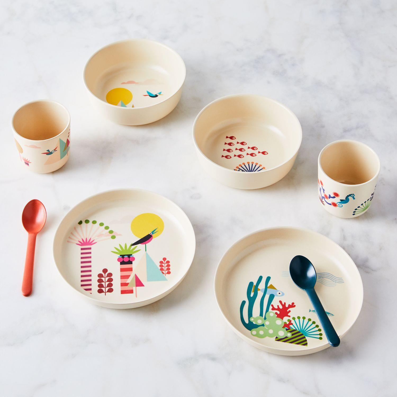 Recycled Bamboo Kids Dinnerware Set Of 4 Kids Dinnerware Kids Dinnerware Set Kids Tableware