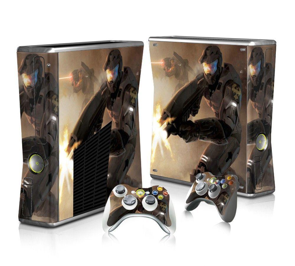 Halo Reach Sticker Skin For Xbox 360 Slim Halo Reach