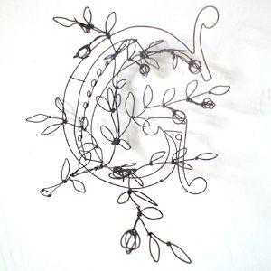 密買東京|立体線画|商品概要(針金でつくる表札(のようなもの) - うらいまゆみ -)