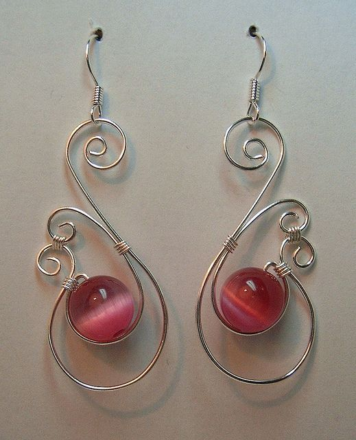 F Ketcsiga Kek Wire Earrings Wire Wrapping And Beads