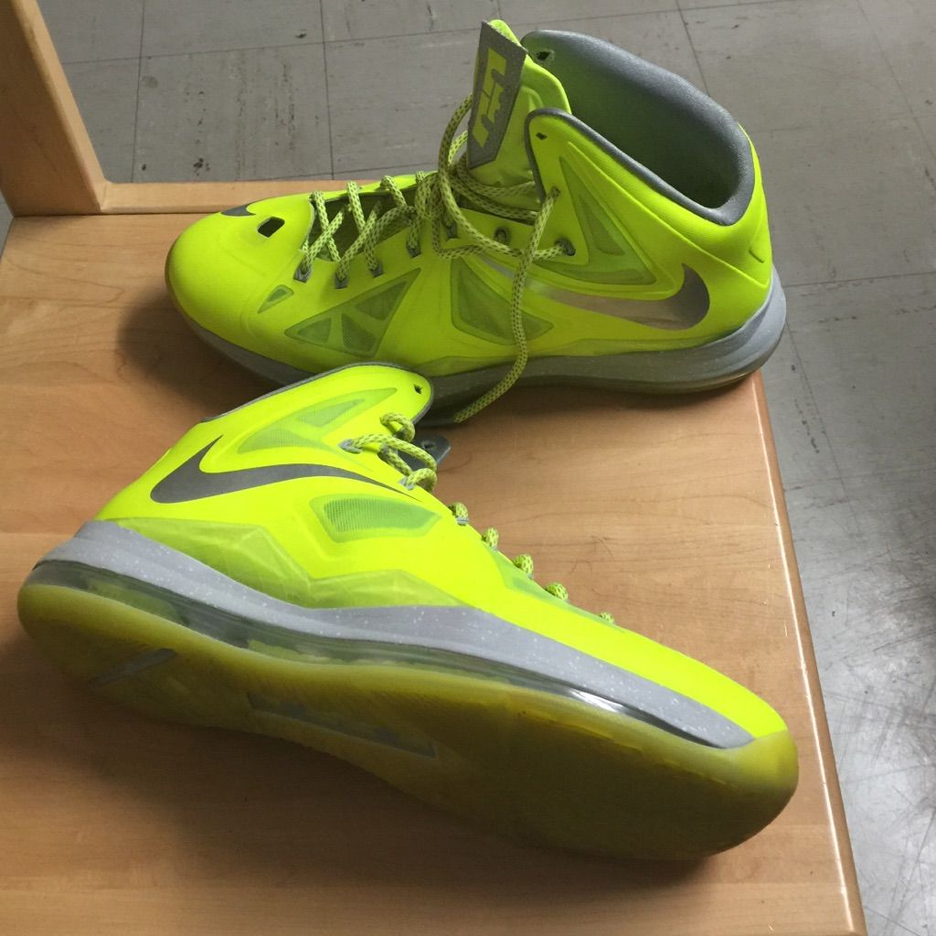 Nike Lebron 10 Volts Tennis Ball Yellow Nike lebron, New