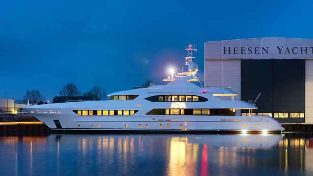Heesen has launched the 11th of its 47m displacement series superyachts, christened Asya