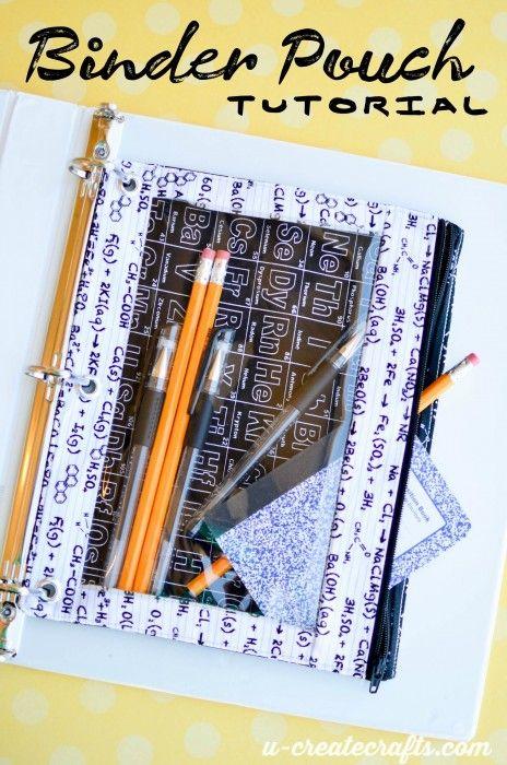 Project Design Team Wednesday Binder Pouch Tutorial