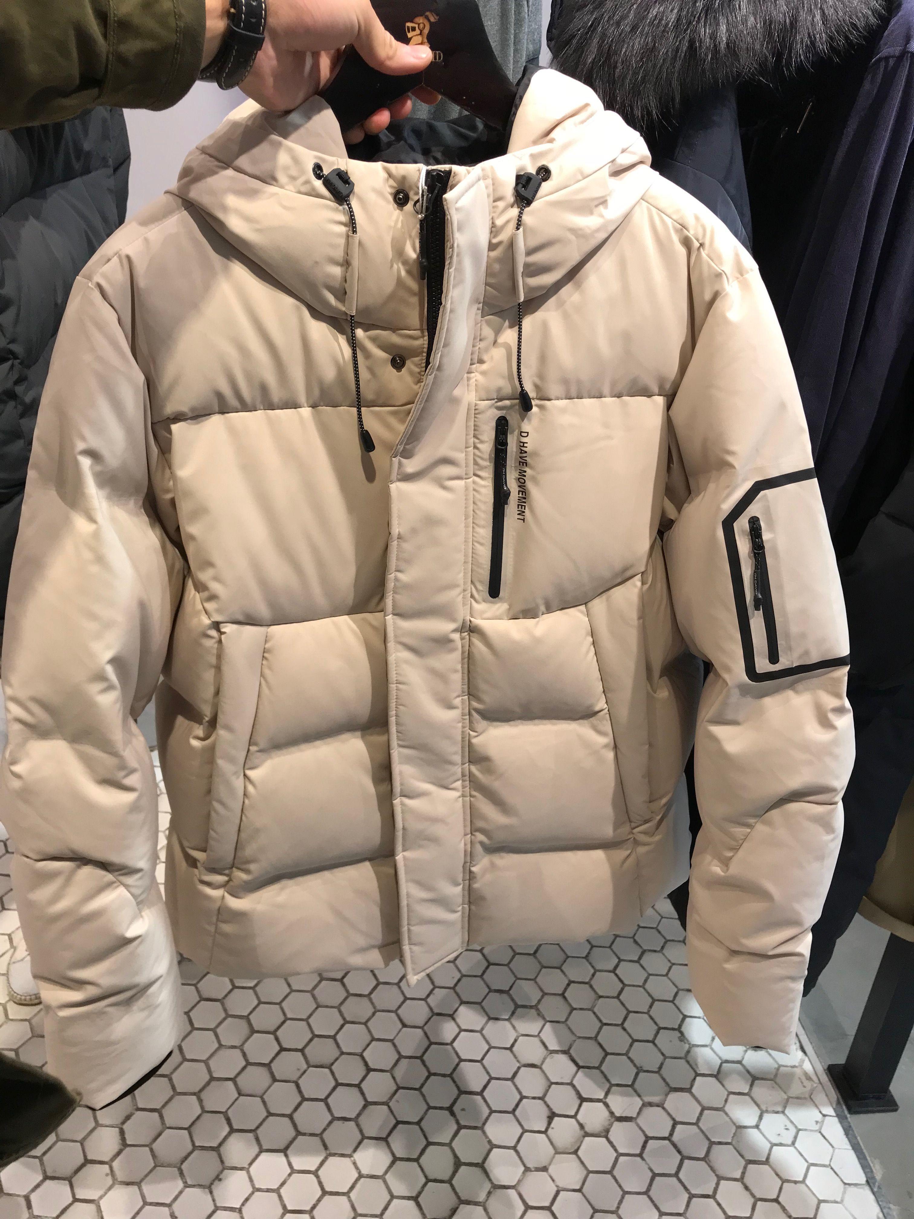 Imdavid Brand White Popular Down Jacket A Little Design That Hides The Zipper Mens Outerwear Jacket Mens Outerwear Fashion Men Outerwear Casual [ 4032 x 3024 Pixel ]